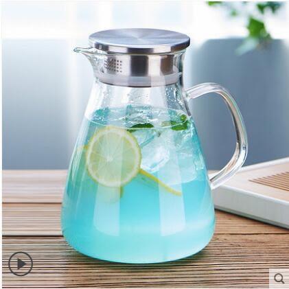 涼水壺耐熱防爆涼白開水壺晾水杯玻璃耐高溫涼杯家用冷水壺「摩登大道」