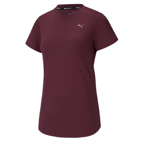 Puma Ignite 酒紅色 女款 短袖 慢跑系列 運動上衣 短T 彈性 透氣 柔軟 舒適短袖 上衣 51825522