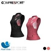 【Compressport 瑞士】PT3 女款無袖壓縮跑衣 Postural 3 黑/石榴紅 CS1-1236-2 原價3800元