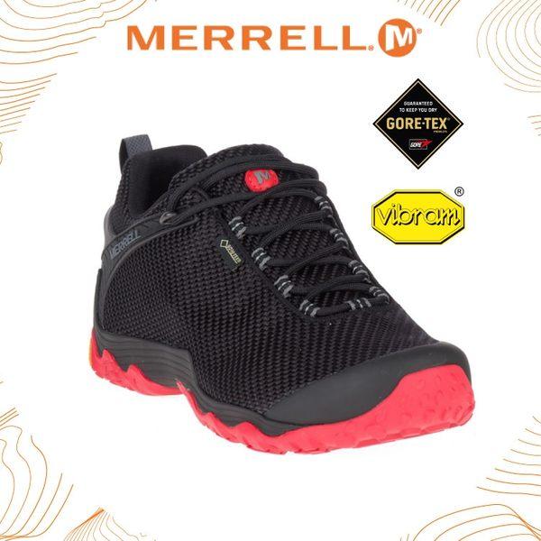 【MERRELL 美國 男 CHAMELEON 7 STORM GORE-TEX運動鞋《 黑/紅》】ML31131/休閒鞋