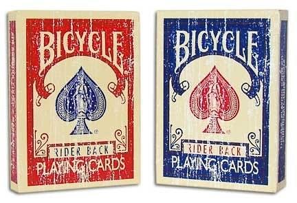 【USPCC撲克】BICYCLE 古幻境 faded 紅背/藍背 掉漆牌,骨董牌