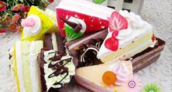 [協貿國際]仿真模型三角蛋糕(9個1組)