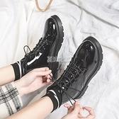 春秋季薄款潮流學院風學生百搭馬丁靴女英倫風百搭短靴小皮鞋