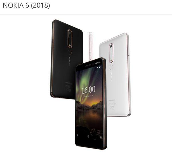 【NOKIA 6.1 2018 4G/64G 5.5吋八核雙卡雙待智慧型手機】Nokia 6 第二代 獨家蔡司認證鏡頭NOKIA 6 (2018)