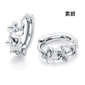 耳環 925純銀鑲鑽-花朵造型生日情人節禮物女飾品2款73ds7[時尚巴黎]