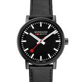 MONDAINE 瑞士國鐵evo2腕錶-40mm/黑 40121LB