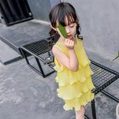 全館83折女童連身裙夏裝兒童的公主裙2019新款韓版雪紡寶寶裙子小女孩童裝