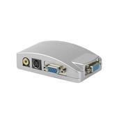 VGA轉AV轉換器電腦接電視S端子接口視頻轉換盒 PC轉TV連接器
