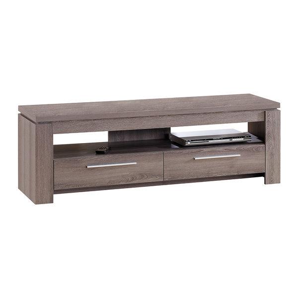 【森可家居】歐登深木色5尺雙抽電視櫃 7JX201-3 長櫃 木紋質感 無印北歐風