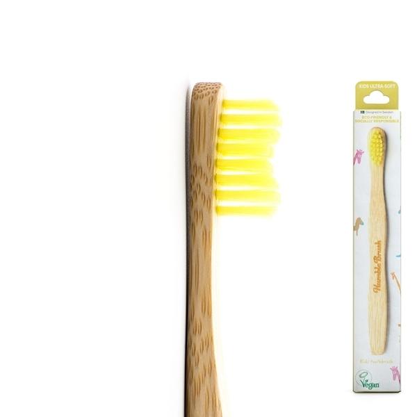 Humble Brush 瑞典竹製小款超軟毛牙刷 - 黃色(女性兒童皆適用)