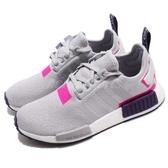 【六折特賣】adidas NMD_R1 W 灰 粉紅 桃紅 boost 襪套式 運動鞋 女鞋【PUMP306】 BD8006