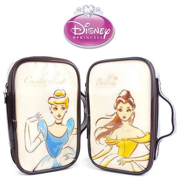 里和Riho 迪士尼公主典雅化妝包L 旅行包 萬用包 外出包 手提包 仙杜瑞拉 貝兒 DISNEY