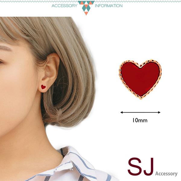 素簡手作玫瑰金夾式耳環 18k金耳夾  醫療鋼耳環 防過敏耳針 無耳洞耳環 現+預【RSE077】