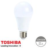 (組)Toshiba 11W 廣角 LED燈泡 晝光色-3入