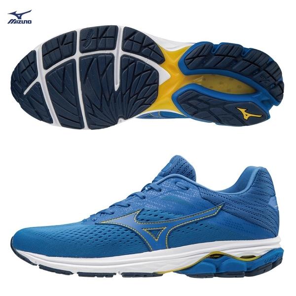 MIZUNO WAVE RIDER 23 男鞋 慢跑 路跑 避震 穩定 柔軟 DROP 12mm 藍【運動世界】J1GC190324