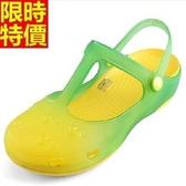 洞洞鞋-彩色鏤空愛心沙灘女果凍鞋5色67u37【巴黎精品】