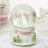 音樂盒 水晶球帶燈旋轉音樂盒八音盒創意生日禮物送兒童女孩兒童節七夕節 京都3C