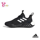 adidas運動鞋 女鞋 慢跑鞋 跑步鞋 耐磨避震 寬楦 跑鞋 4UTURE ONE S9367#黑色◆OSOME奧森鞋業