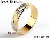 【MARE-316L白鋼】戒指系列:玫金尾戒 (美規 5、9號)
