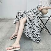 長裙 圖騰 印花 雪紡 一片裙 防曬 沙灘 裹裙 開叉 綁帶 長裙【HS25.1090】 ENTER  05/09