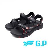 G.P (男女共用款) 磁扣可調式 涼拖鞋-黑紅 (另有藍、綠)