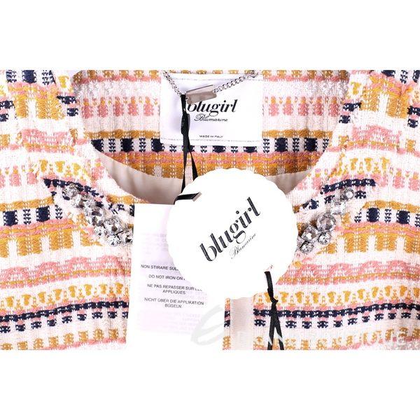 BLUGIRL 多彩織紋鑽飾七分袖外套 1620614-40