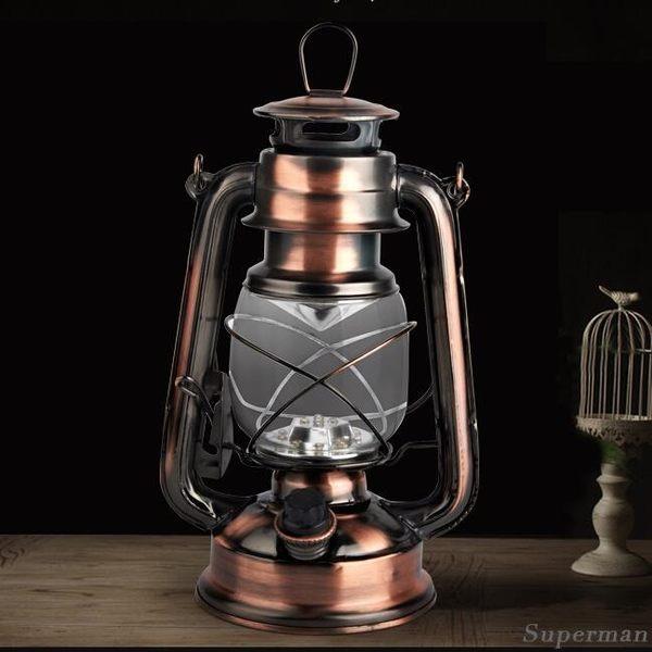 帳篷燈 - 復古戶外照明18650電池充電手提LED應急野營帳篷裝飾煤油馬燈【店慶狂歡八折搶購】
