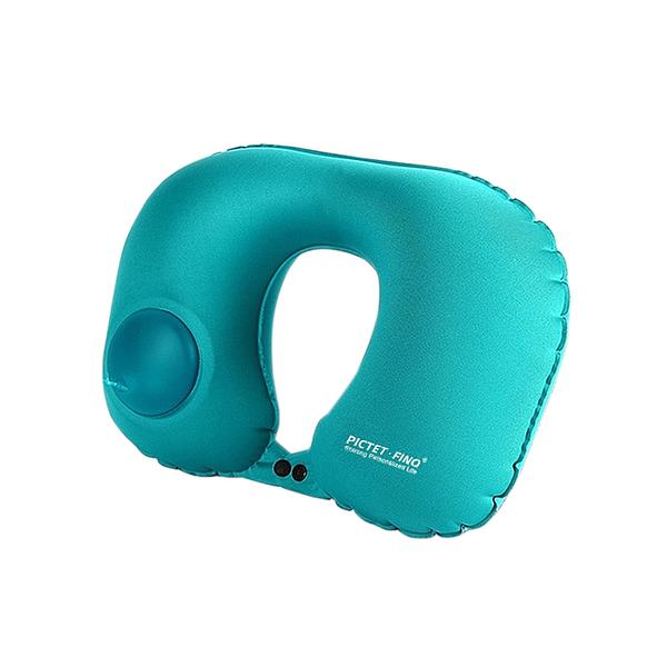 〈限今日-超取299免運〉PICTET.FINO正品 升級款按壓式充氣枕 U型充氣枕 飛機 出國 充氣枕【F0237】