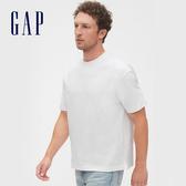 Gap 男裝 棉質舒適圓領短袖T恤 530915-白色