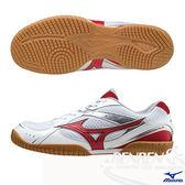 MIZUNO美津濃 桌球鞋 (白*紅) CROSSMATCH RX3 橡膠大底 入門基本款 81GA163062