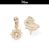 【迪士尼系列】花語愛麗絲夾式耳環~夏綠蒂didi-shop