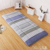 床墊學生地鋪睡墊可折疊加厚軟上下鋪天用的床褥墊單人褥子YXS 七色堇