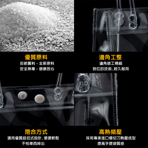 全透明PVC袋(方形袋) 客製化 LOGO印刷 飲料袋 購物袋 環保袋 廣告袋 網紅提袋【塔克】