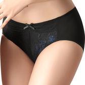 思薇爾-撩波系列M-XXL蕾絲中腰三角內褲(黑色)