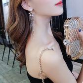925銀針星星長款流蘇耳環女韓國氣質個性百搭誇張網紅耳釘耳墜 檸檬衣舍