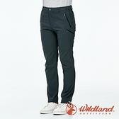 【wildland 荒野】男 彈性拼接合身透氣長褲『尊爵灰』0A91318 戶外 休閒 運動 露營 吸濕 排汗 快乾