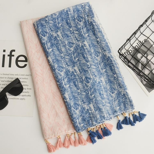 棉麻文藝圍巾防曬披肩方巾