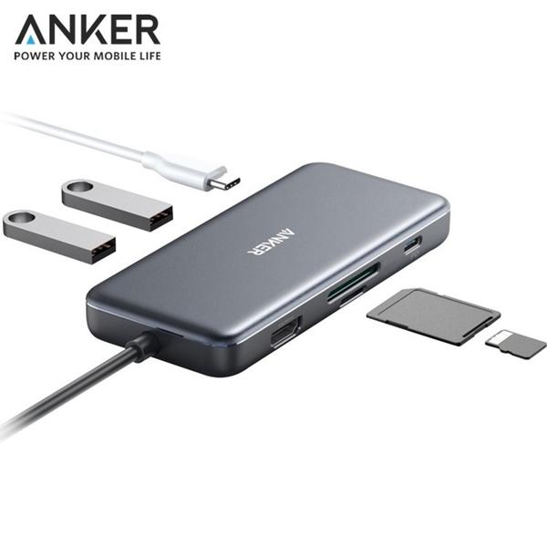 耀您館 Anker影像傳輸充電7合1集線器A83460A2含4K HDMI/USB-C/USB-A/micro SD讀卡機
