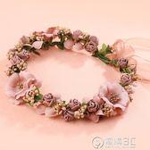 新娘韓式森女海邊花環頭飾頭環新娘伴娘兒童結婚禮婚寫真發飾 igo電購3C