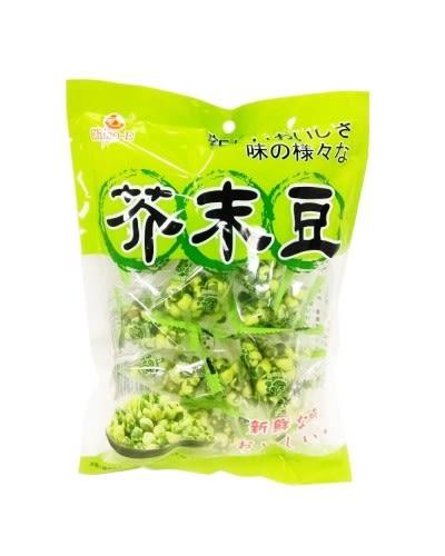 【麻吉熊】台灣巧益 三角包芥末豆 110g