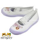 日本月星 MoonStar  白/紫色 小公主蘇菲亞 舒適學生鞋 帆布膠底 室內鞋 NO.R1516