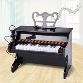 1701兒童鋼琴初學者電子琴玩具25鍵智能燈光帶麥克風3-6 aj11234『小美日記』