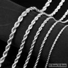 《 QBOX 》FASHION 飾品【N100BN1007】精緻個性麻花繩鈦鋼項鍊子/鋼鍊條(0.5/0.6cm)