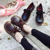 娃娃鞋 日系學院風ulzzang大頭鞋女韓版學生原宿風軟妹小皮鞋蝴蝶結單鞋 小宅女