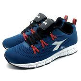 《7+1童鞋》男段 DIADORA 迪亞多納 網布透氣 運動鞋 慢跑鞋 義大利國寶鞋 E298 藍色