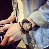 ulzzang原宿風大錶盤手錶女學生韓版簡約潮流休閒大氣復古潮男 完美情人精品館