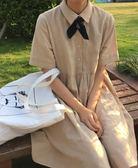 小洋裝娃娃裙連身裙日系少女寬鬆學院風