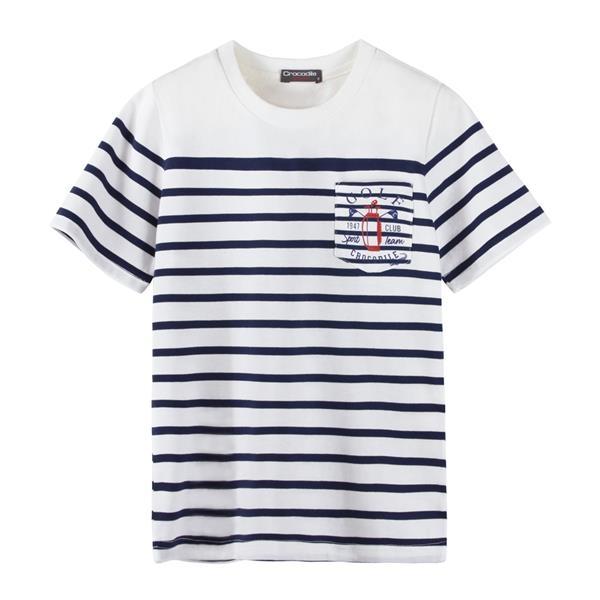 『小鱷魚童裝』高爾夫條紋T恤(08號~18號)533402