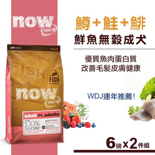 78折優惠價【SofyDOG】Now! 鮮魚無穀天然糧 成犬配方(6磅2件優惠組) 狗飼料 狗糧