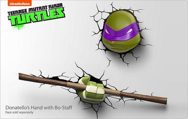 忍者龜3D造型壁燈/多納太羅(頭部)